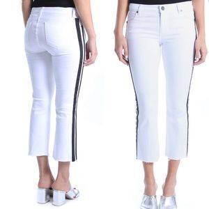 NWT KUT FROM THE KLOTH STELLA KICK WHITE JEANS 10